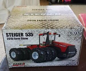 2010 Farm Show Case IH Steiger 535 Tractor Triple Wheels 1:32 NIB
