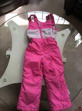 Lands End 3T Snow Bibs Pants Pink Toddler Girl