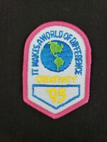 """Vintage 1995 Girl Scouts Creativity It Makes A World of Difference '95 Patch 3"""""""