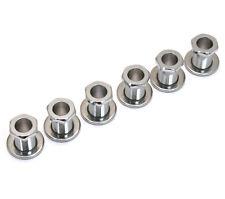 (6) Chrome Screw-In Tuner Bushings and Washers for Modern Guitars Tk-0786-010