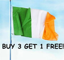 FLAG OF IRELAND LARGE 3 X 5 FEET IRISH EIRE INDOOR OUTDOOR, GROMMETS, FREE SHIP!