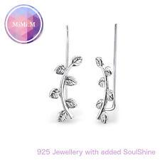 925 Sterling Silver Curved Ear Grecian Ear Pin Ear Climber Hypoallergenic