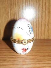 Ben Bridge ~  Ladybug Butterfly Dragon Fly Egg ~ Trinket Box ~ 2002