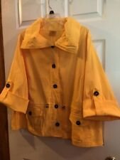 RUBY ROAD Womens Plus Size 18W Light weight Bright Yellow Unique Sleeves