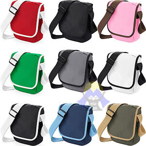 BORSA a Tracolla BAGBASE Mini Reporter TASCA ZIP Borsetta DOCUMENTI Bag 9 COLORI