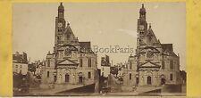 Paris Église Saint-Étienne-du-MontFrance Photo Stéréo Stereoview Vintage