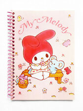 VINTAGE 1976, 1987 SANRIO MY MELODY Small Collectible Spiral Notebook *RARE*