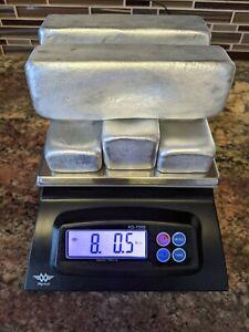 8 Lbs Hand Poured Pure Aluminum Ingot Bars