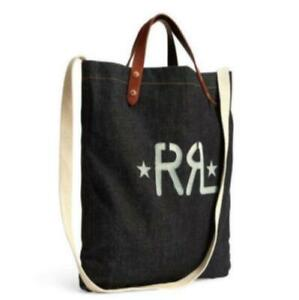 RRL Authentic Cotton Denim Market Tote Bag New Unused with tag from Japan