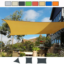 More details for outdoor shade sail patio suncreen awning garden sun canopy 98% uv block new