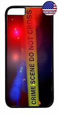 Police Crime Scene Line Hard Rubber Case Cover For iPhone 7/6/6s/Plus/5/5s/5c/4s