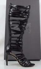 Women's Vince Camuto KASE Tall Gladiator Sandals Heels Leather Black Size 8