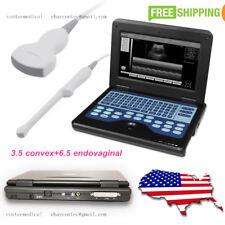Portable Laptop Digital Ultrasound Scanner 35 Convex 65 Transvaginal 2 Probes