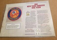 125 years of Official Baseball Patches 1952 New York Yankees 50th Year Patch