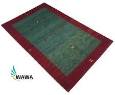 Gabbeh Teppich 118x180 cm Handgeknüpft ~ 100% Wolle ~ Reine Schurwo