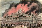Currier & Ives : Burning of The New York Crystal Palace Art Print