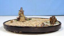 Vintage ceramic bonsai mudman penjing garden tray rare hand made OOAK ci 1950s