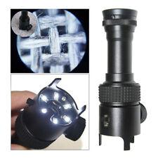 50X Metal Illuminated Pocket Microscope Jewelry Identify Magnifying Glass Loupe