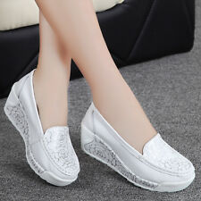 New Women Platform Shoes Lace UP Shape Ups Toning Fitness Walking Sport Sneakers