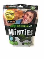 VetIQ Minties Dental Bone Treats for Dogs 40+ pounds 8 count Medium/Large 6.4 oz