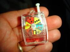 old mini casino gumball SLOT MACHINE Toy prize CHARM keychain plastic souvenir