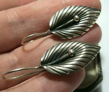 Vintage Sterling Silver Art Nouveau Style Large Calla Lily Drop EARRINGS