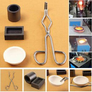 5pcs /Set Torch Melting Kit Gold & Silver Crucible Tong Graphite Ingot Mold