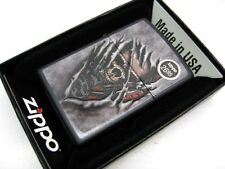 ZIPPO Full Size Black Matte STEAMPUNK SKULL Classic Windproof Lighter! 28882