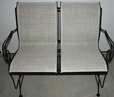 2 Person Love Seat Porch Patio Glider Swing Beige & Black *LOCAL PICK UP ONLY*