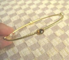 NEW DAVID YURMAN 18KYG 4 STATION CABLE BANGLE BRACELET WITH CITRINE retail $1950