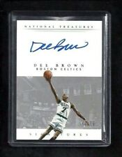 Dee Brown National Treasures SIGNATURES Auto #/75! Boston Celtics Dunk Champion!