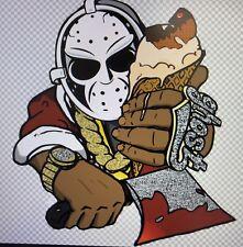 "GhostFace Killah Custom Decal Sticker  5.7""X 6.2"" C.R.E.A.M. (Has 2 Options)"