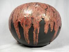 """Beautiful 70´s design otto ceramica pottery vaso with many """"LAVA"""" Drops 20 cm"""