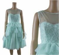 Ex Coast Blanche V&A Wedding Races Prom Formal Cocktail Occasion Dress RRP£550