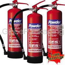 3 x 4KG DRY POWDER ABC FIRE EXTINGUISHERS INDUSTRIAL