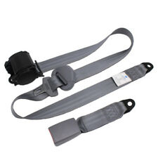 3 Point Car Front Seat Belt Buckle Kit Automatic Retractable Safety Straps Cheap