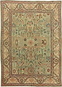 Antique Sultanabad Mint Green, Red, Blue and Beige Rug BB6055
