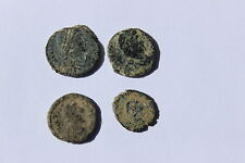 Set of 4 Roman not cleaned bronze coins, archeological find, yours to disco