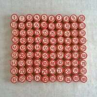Vintage Lotto Game Wooden Numbers Authentic Packaging Classic Bingo Full Set