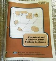 1986 Factory Ford Electrical Climate Control Systems Features Training Manual