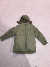 Boys Winter Coat. Size Medium. Army Green.