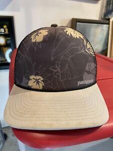 Patagonia Interstate Trucker Mesh Snapback Hat Men's Floral Hawaiian Print Used