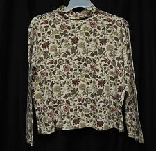 Womens Shirt Size XL By Basic Editions Floral Turtleneck Long Sleeve Pull Over