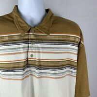 The North Face A5 Series Men's Short Sleeve Striped Polo Shirt Size XXL 2XL