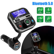 Bluetooth Car FM Transmitter Hands free MP3 Player AUX Radio Adapter USB Charger