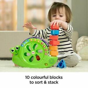 Fisher Price ROCK N SORT SNAIL PAIL w/ Sounds & Music Fun Shape Sorting Baby Toy