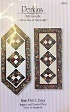 PERKINS DRY GOODS #100-FOUR PATCH FANCY TABLE RUNNER PATTERN