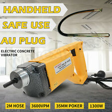 1300w AU Electric Concrete Vibrator 3600vpm 35mm Needle 2m Hose Cement Construct