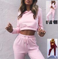 Tuta Sport Pantaloni Felpa Corta Donna Woman Hoodie Short Jacket Pants SETW01 P