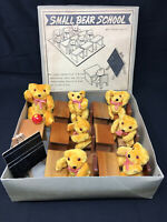 Vintage Shackman SMALL BEAR SCHOOL Teddy Bear Set Marked Made in Japan ca 1950's